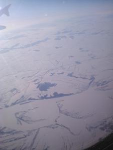 Vista aérea de Siberia.